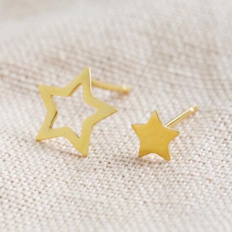 Mismatched Gold Star Stud