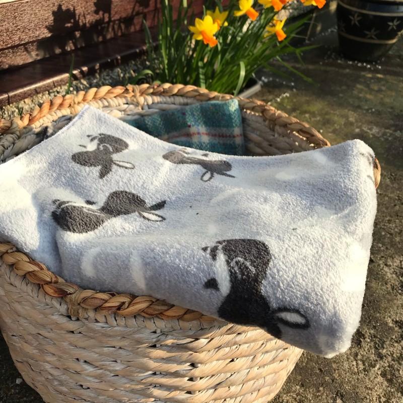 Blue Bunny Print Blanket