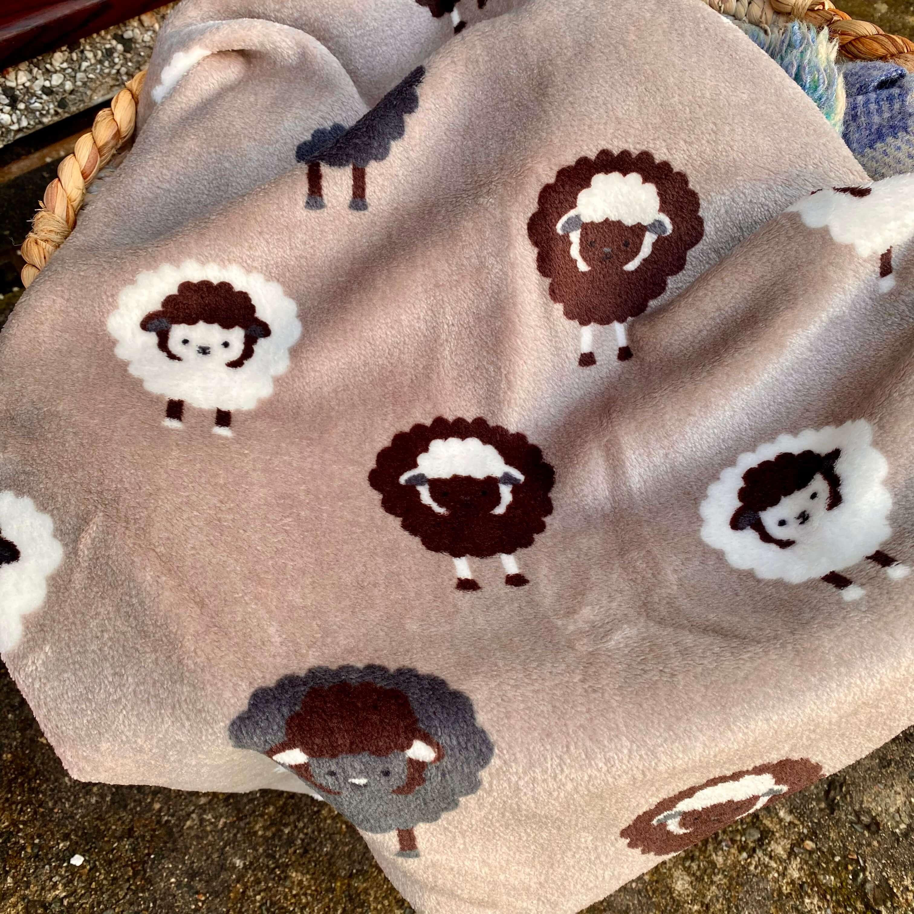 Brown Sheep Print Blanket