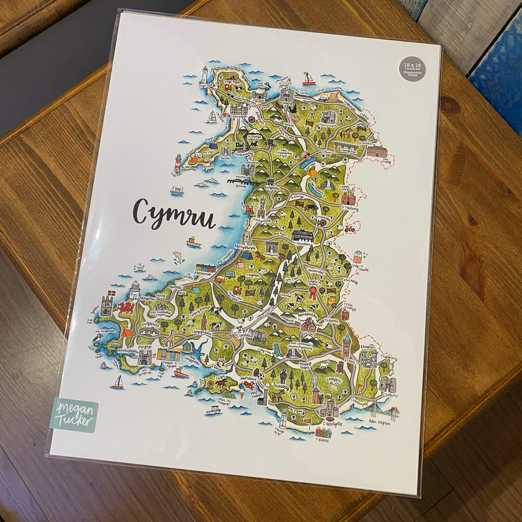 Cymru Map Print