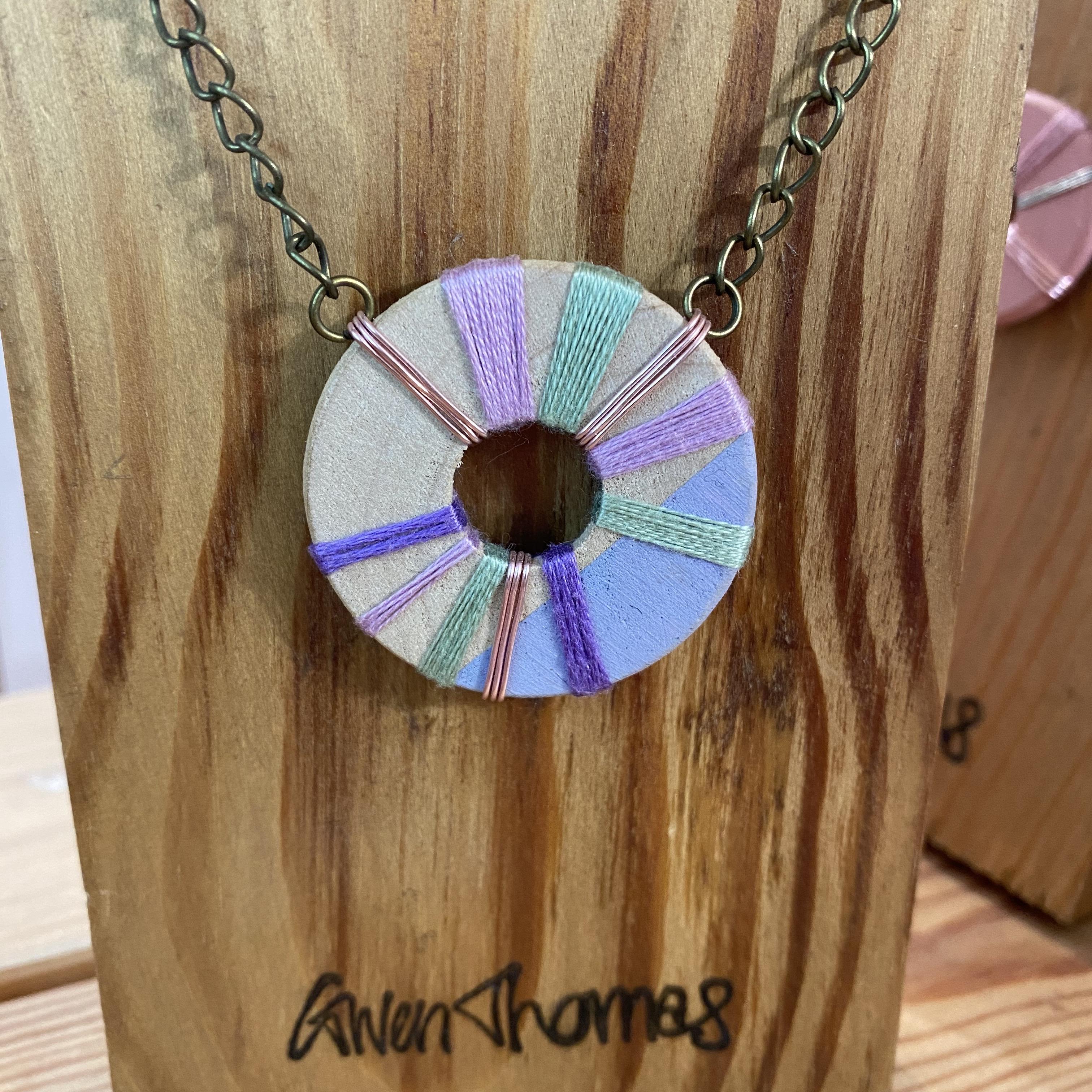 Purple Wooden Necklace - TGT