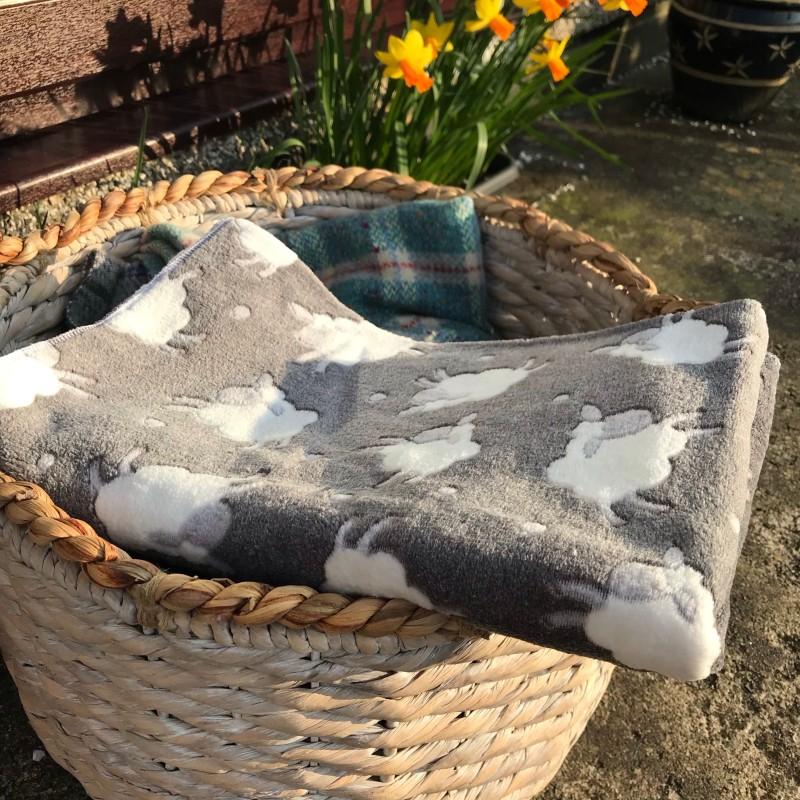 Grey Sheep Print Blanket
