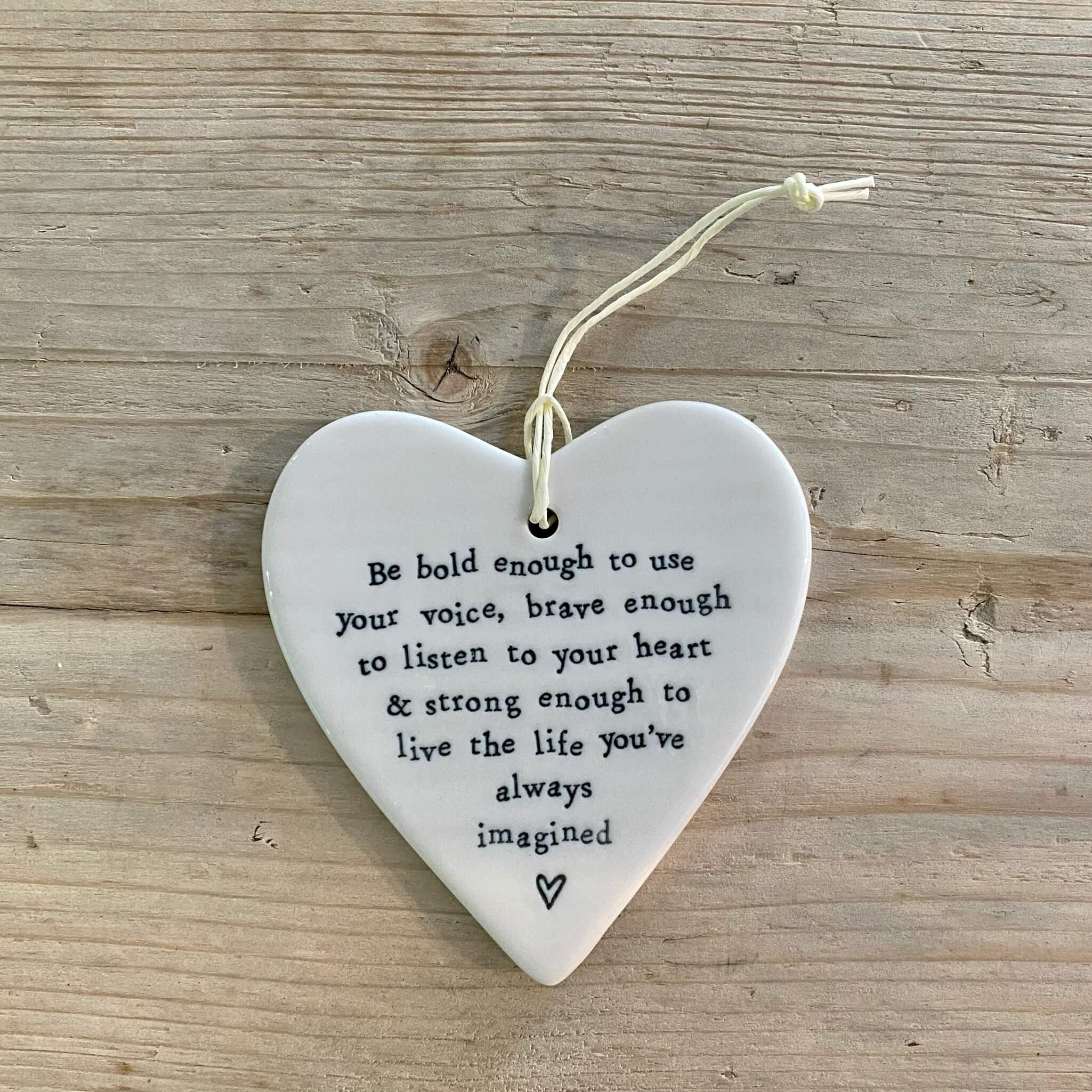 Porcelain Heart - Be bold enough