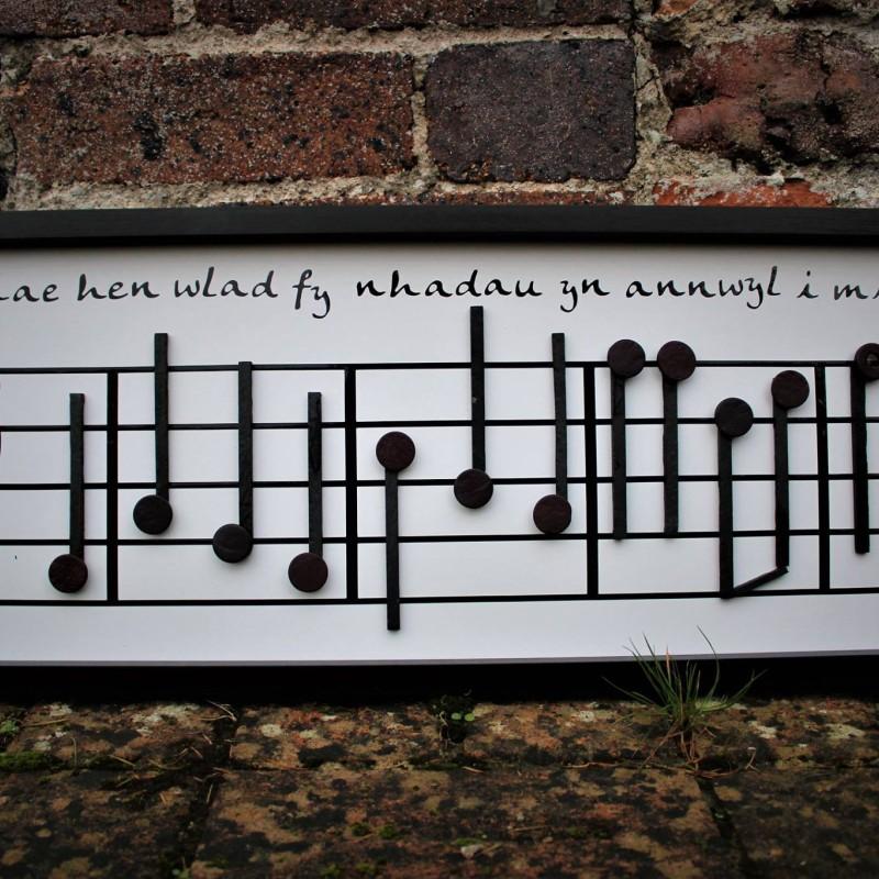 Welsh National Anthem Slate