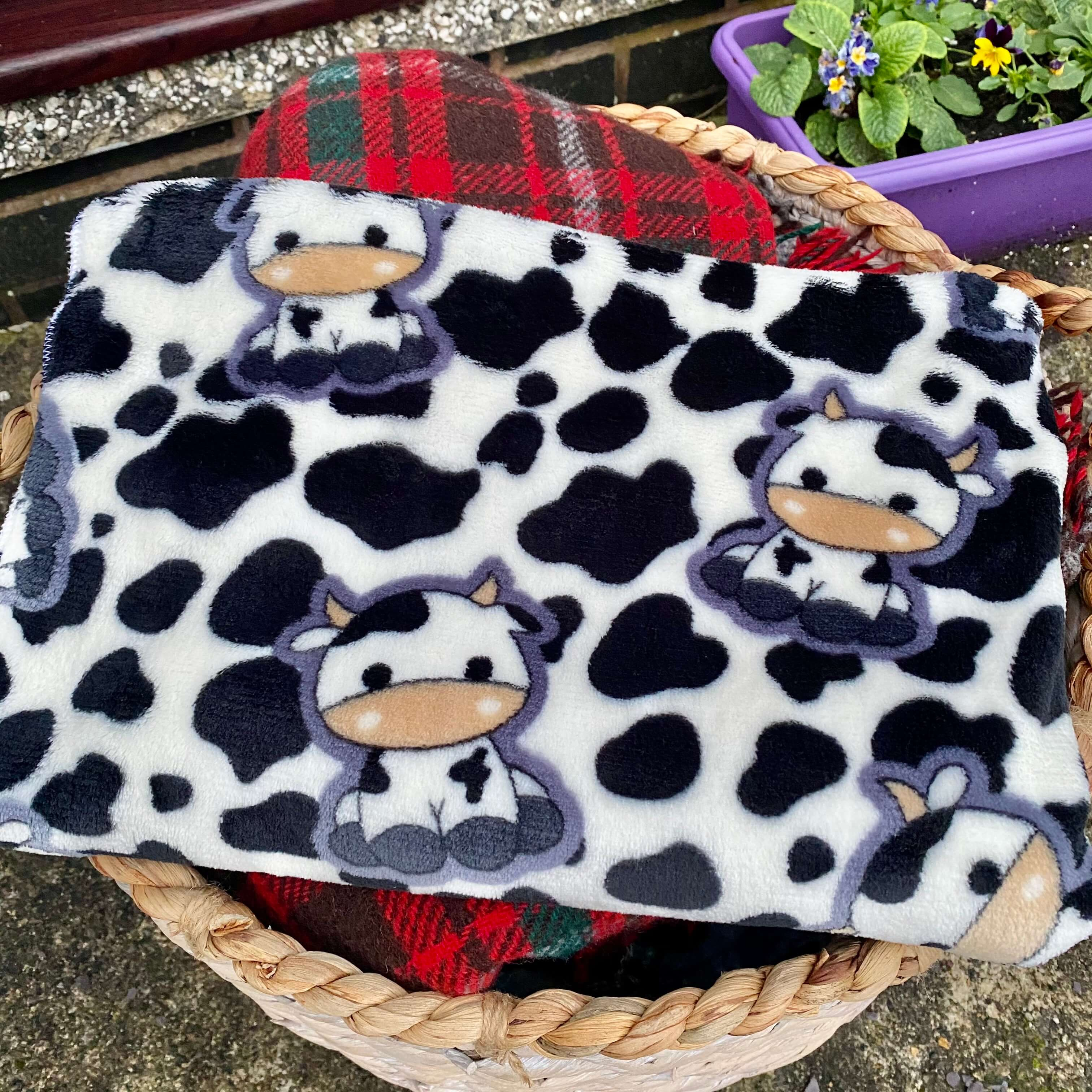 Small Cow Print Blanket
