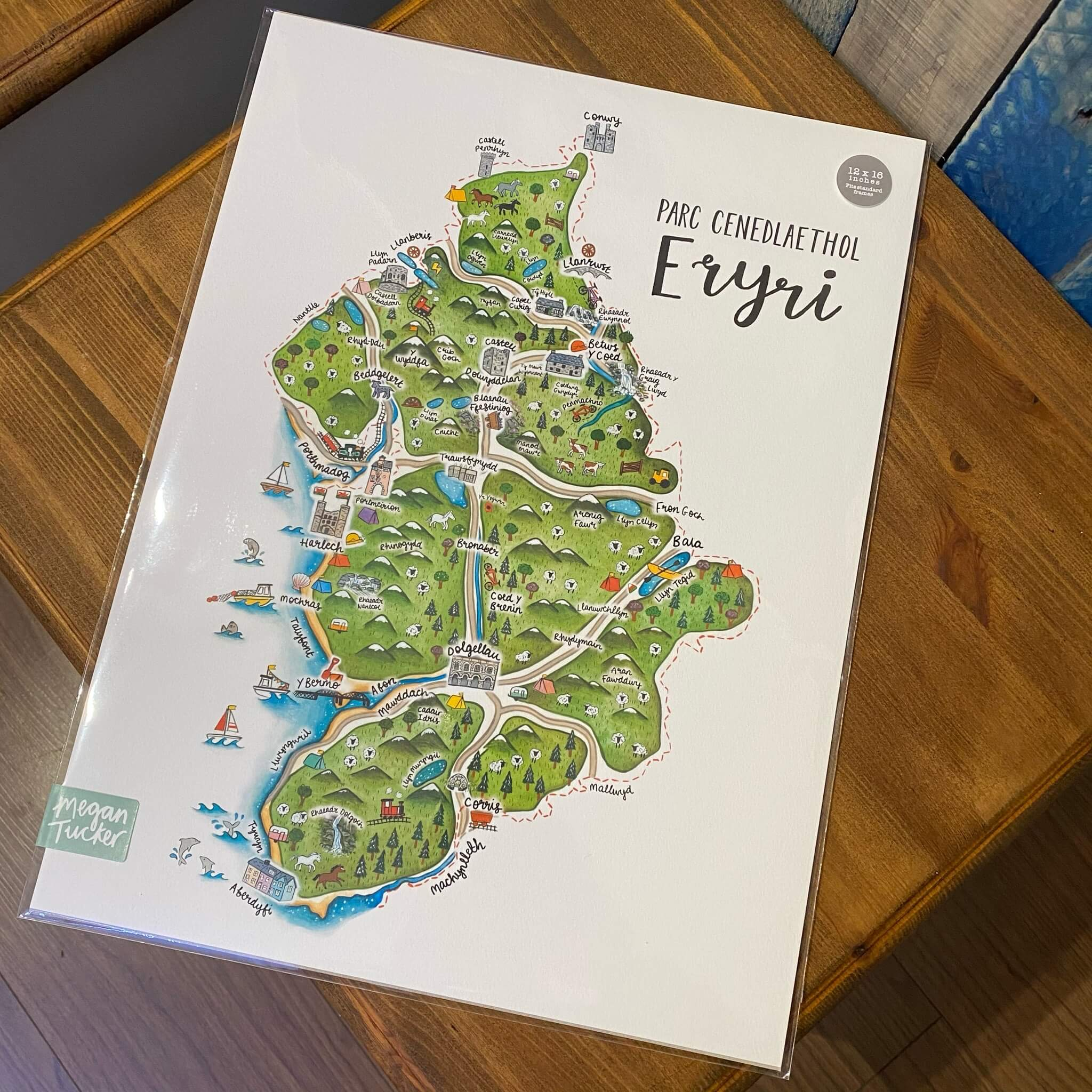 Eryri Map Print