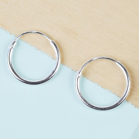 Small Sterling Silver Hoop Earring