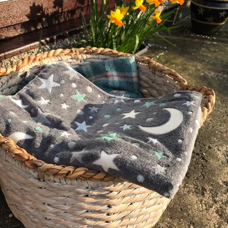 Moon & Stars Print Blanket
