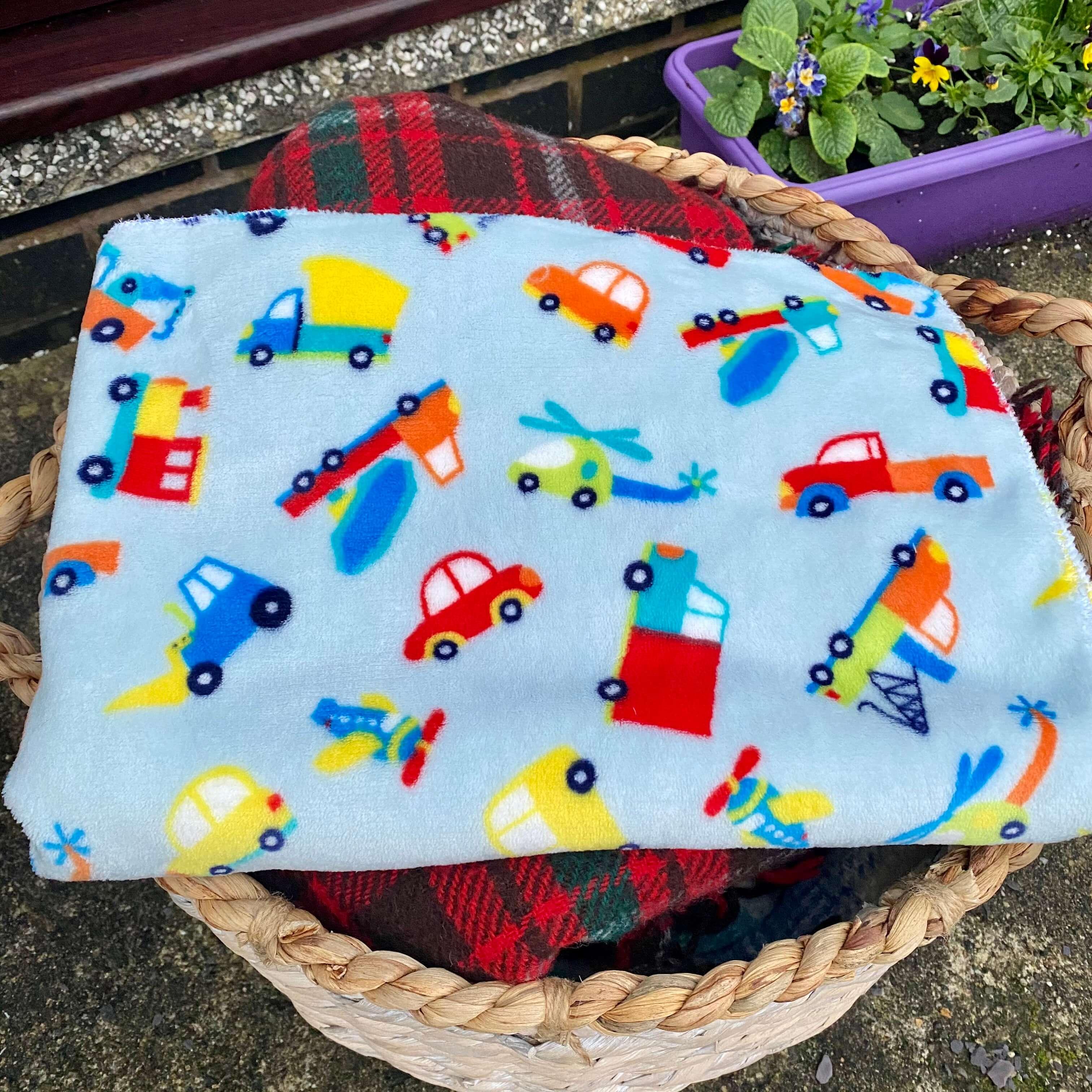 Cars & Trucks Print Fleece Blanket