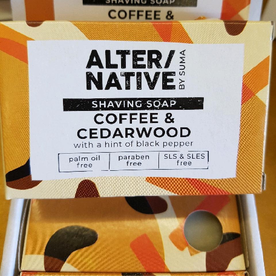 Shaving Soap- coffee and cedarwood