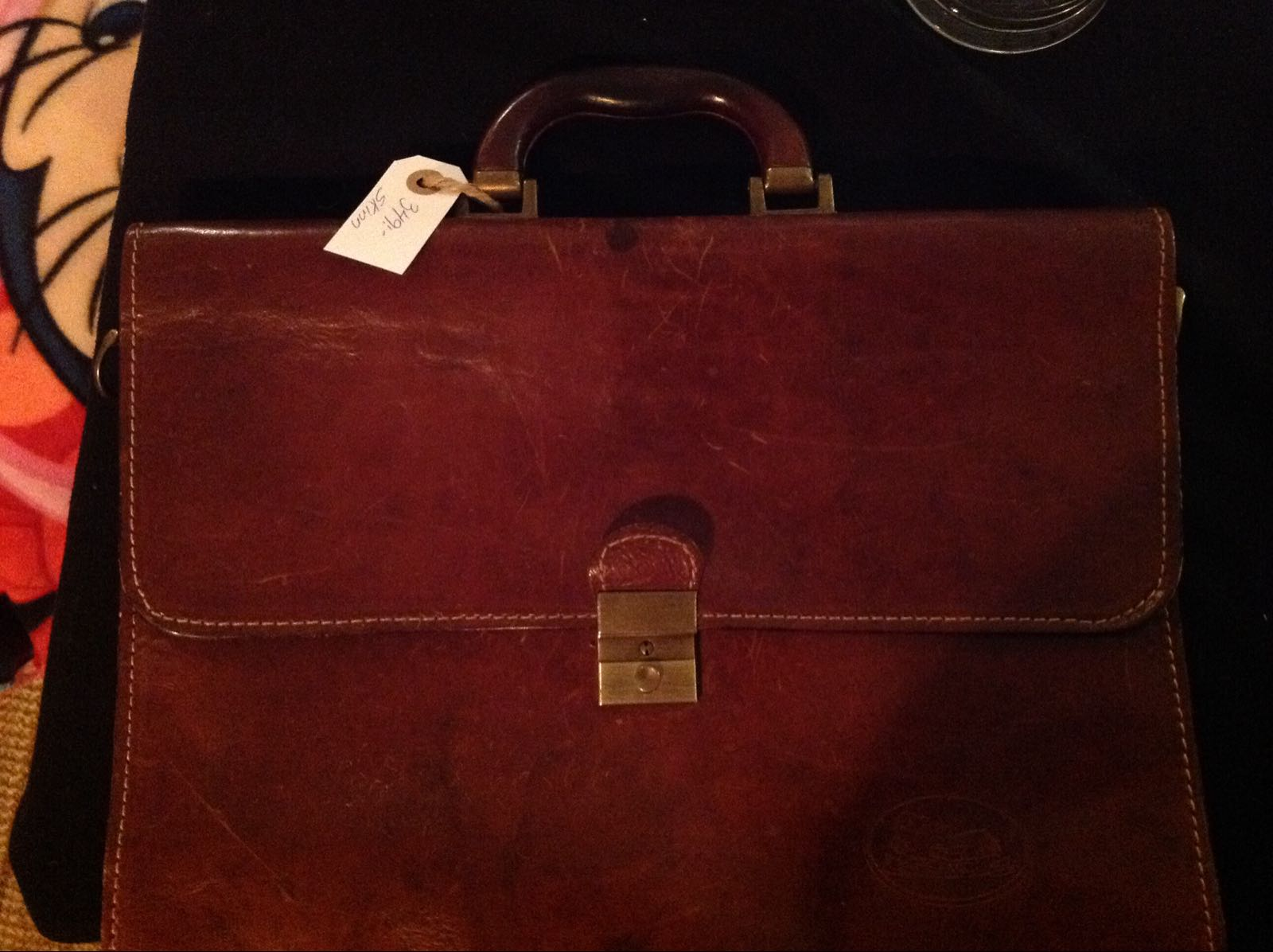 Väska brun portfölj (second hand, vintage, retro)