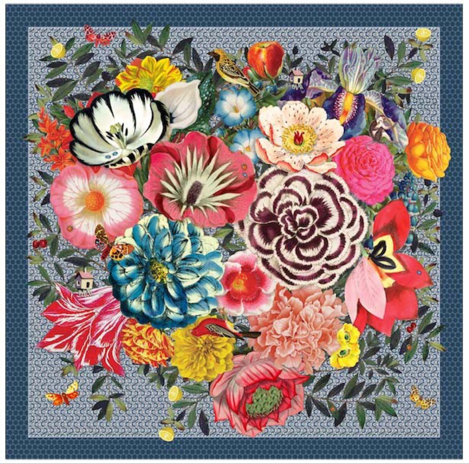 Pip studio Flowers 100% silk scarf