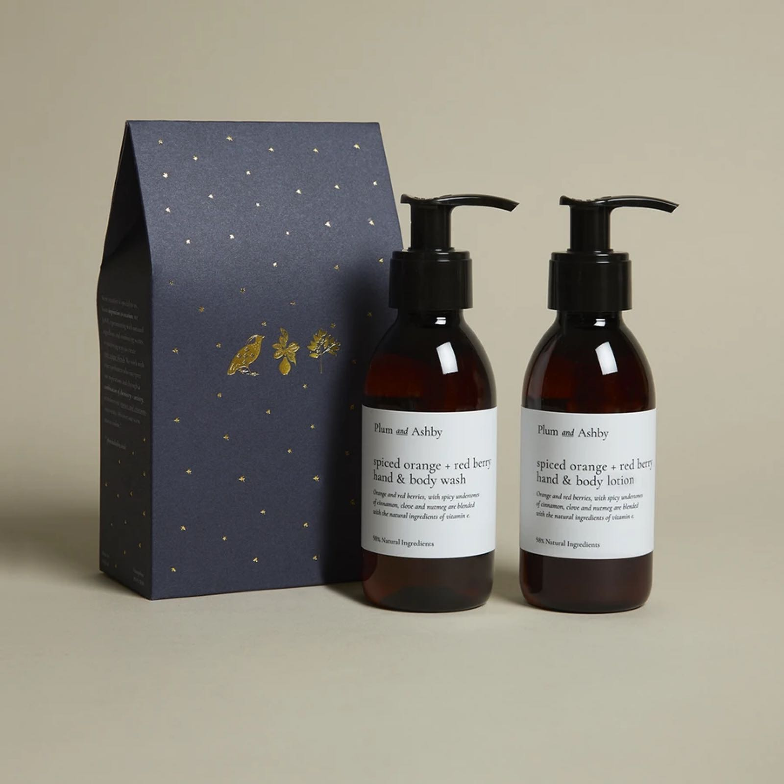 Plum & Ashby spiced orange and red berry wash and lotion gift set