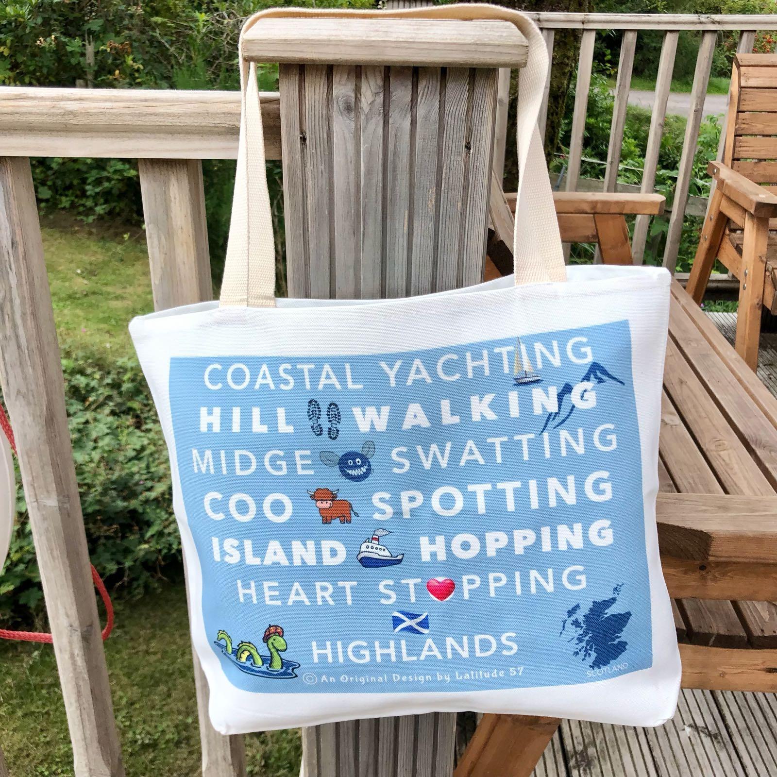 L57 Printed Canvas Tote Bag