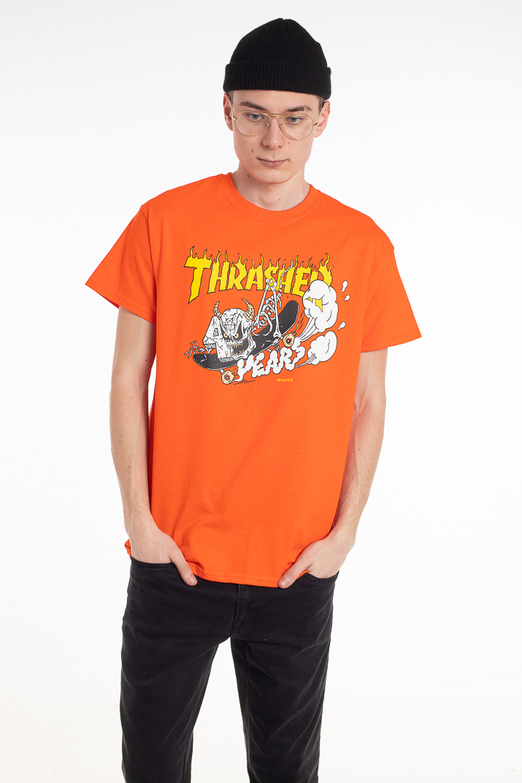 Thrasher Skullface Orange T-skjorte
