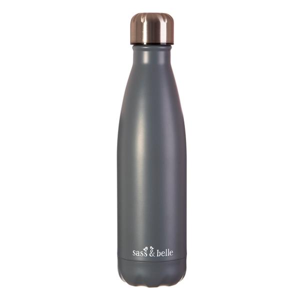Grå Stainless steel flaske