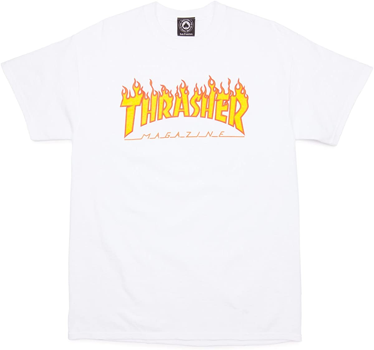 Thrasher Flame White Tee