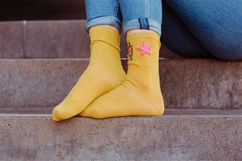 Glitter sokker lime