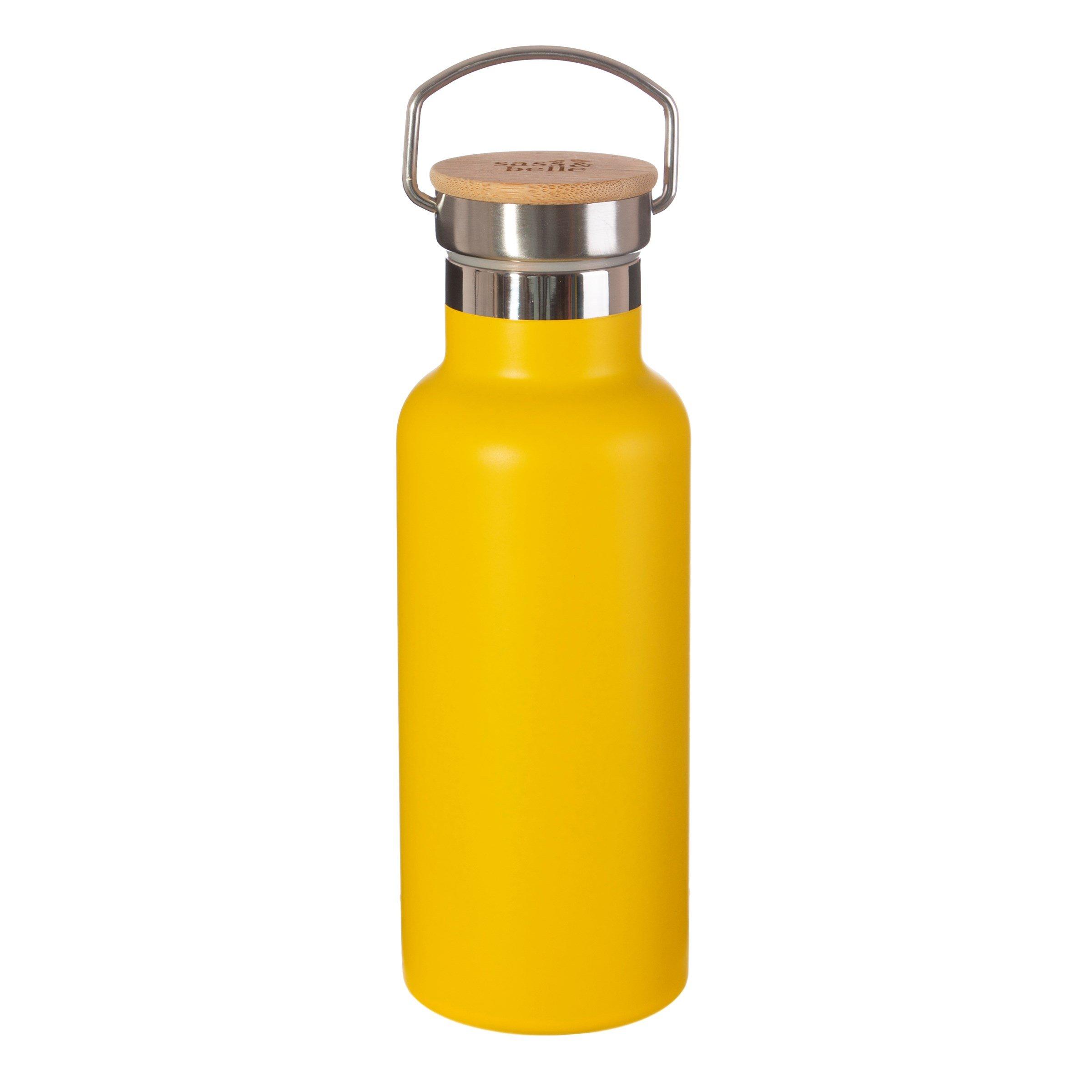 Mustard yellow Steel water bottle