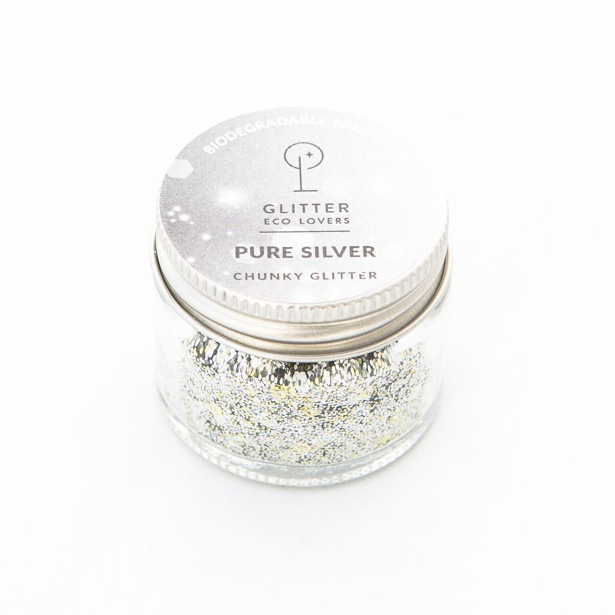 Pure Silver EcoGlitter