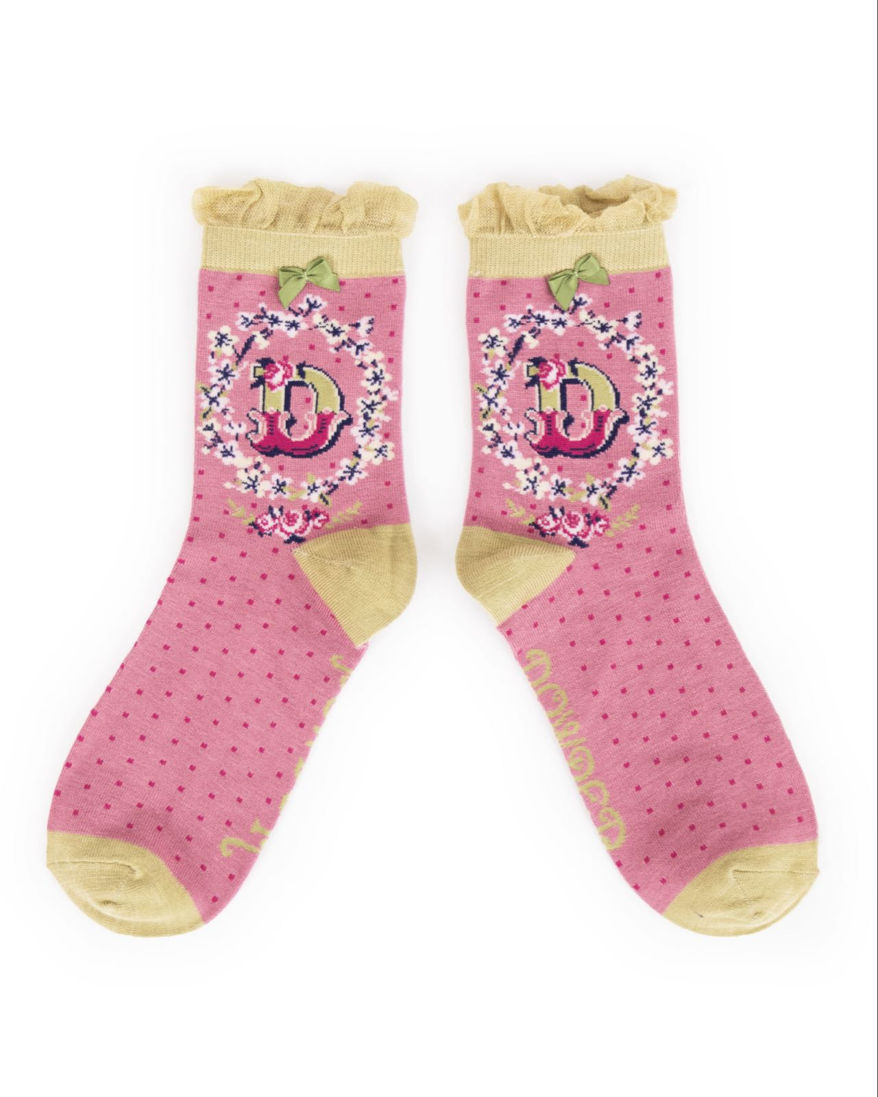 Powder Alphabet socks D (product may differ from item shown in the photo)