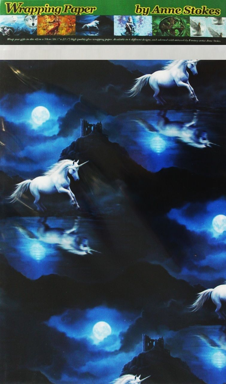 Moonlight Unicorn Gift Wrap (Anne Stokes)