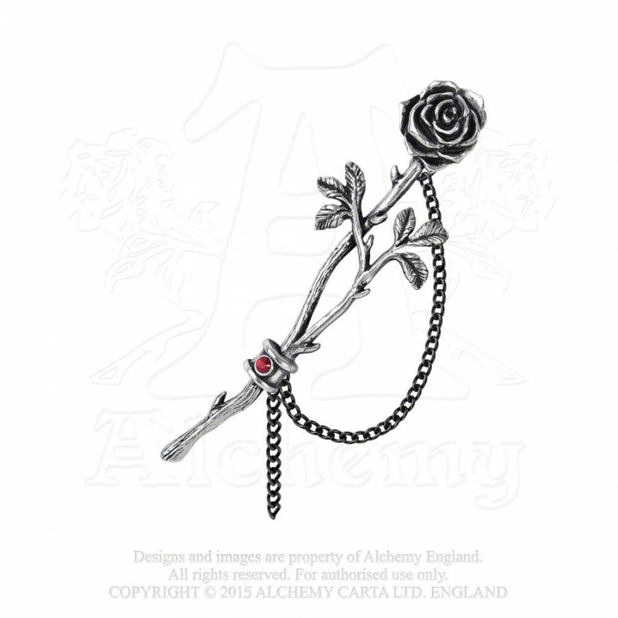 Chained Love Rose Earwrap