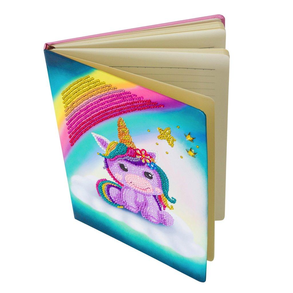 Unicorn Smile Notebook Crystal Art Kit
