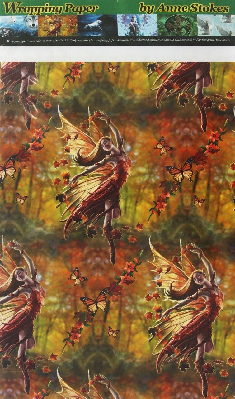 Autumn Fairy Gift Wrap (Anne Stokes)