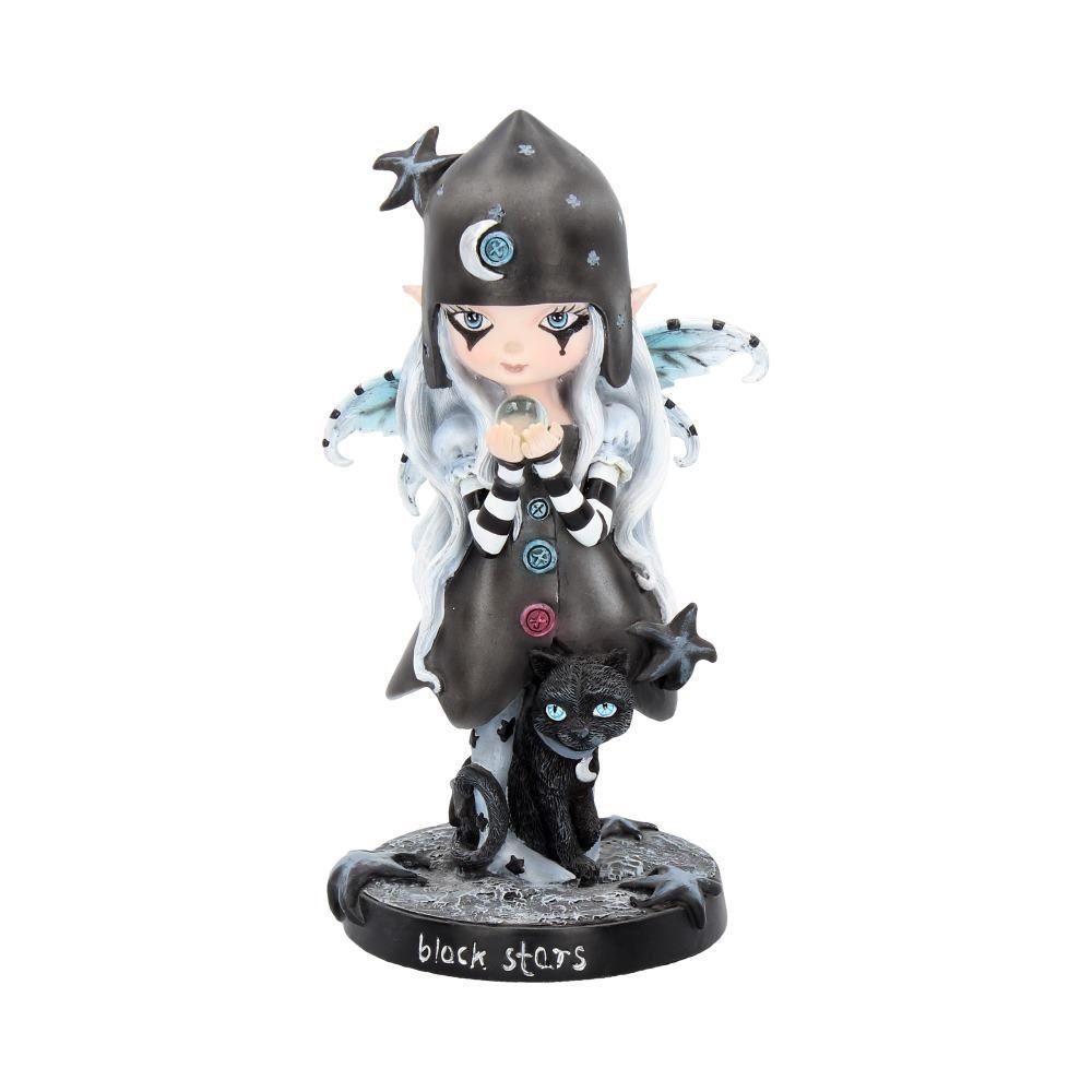 Black Stars Ornament 18cm