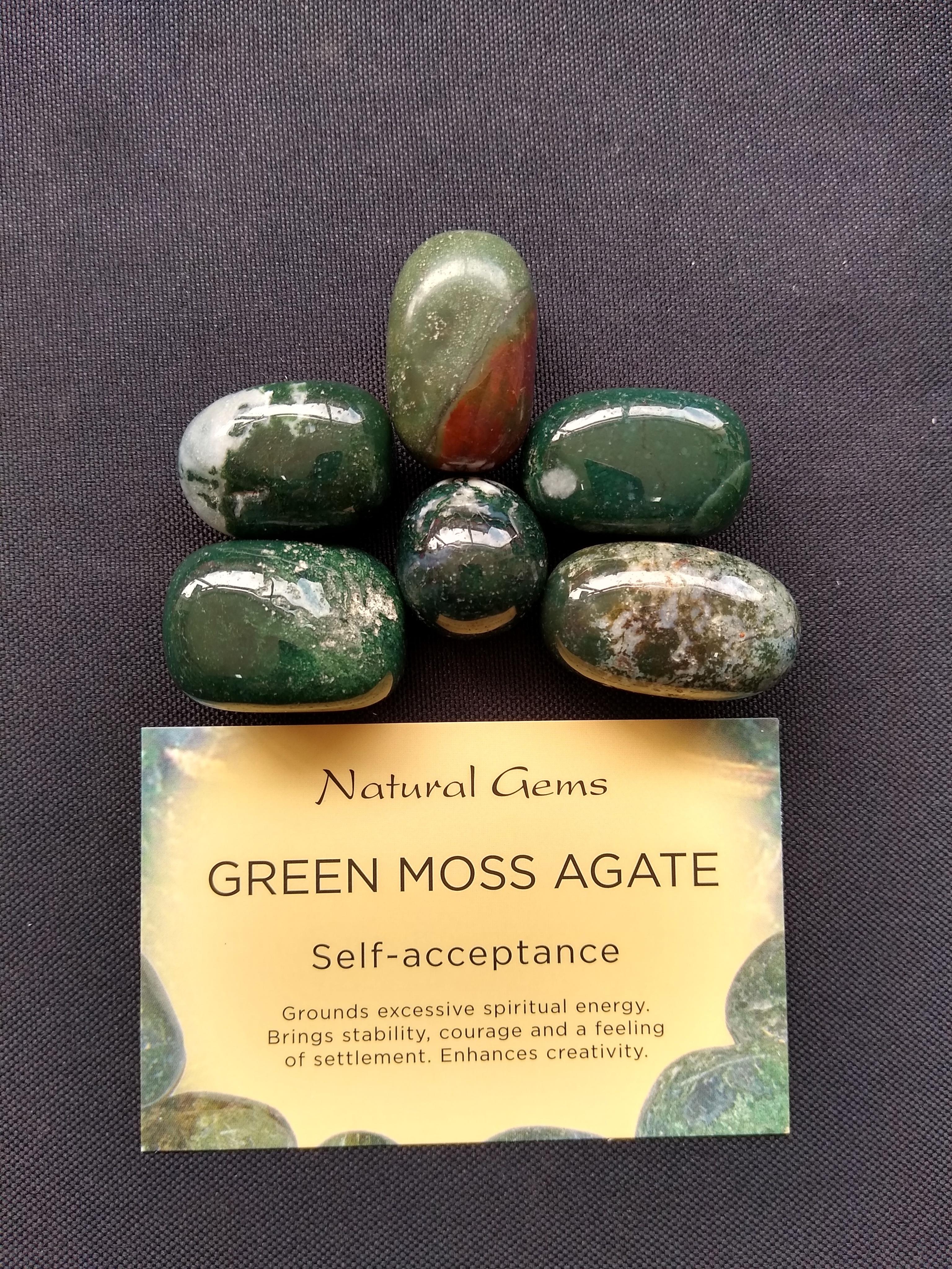 Green Moss Agate Gemstone