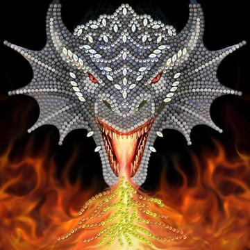 Fire Breather Crystal Art Card (Anne Stokes)