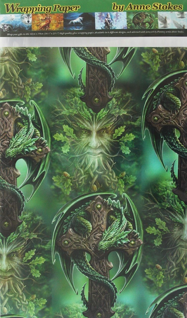 Woodland Guardian Gift Wrap (Anne Stokes)