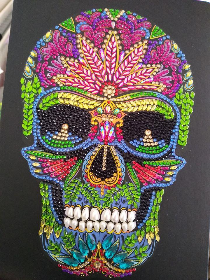 Crystal Art Skull Notebook Kit