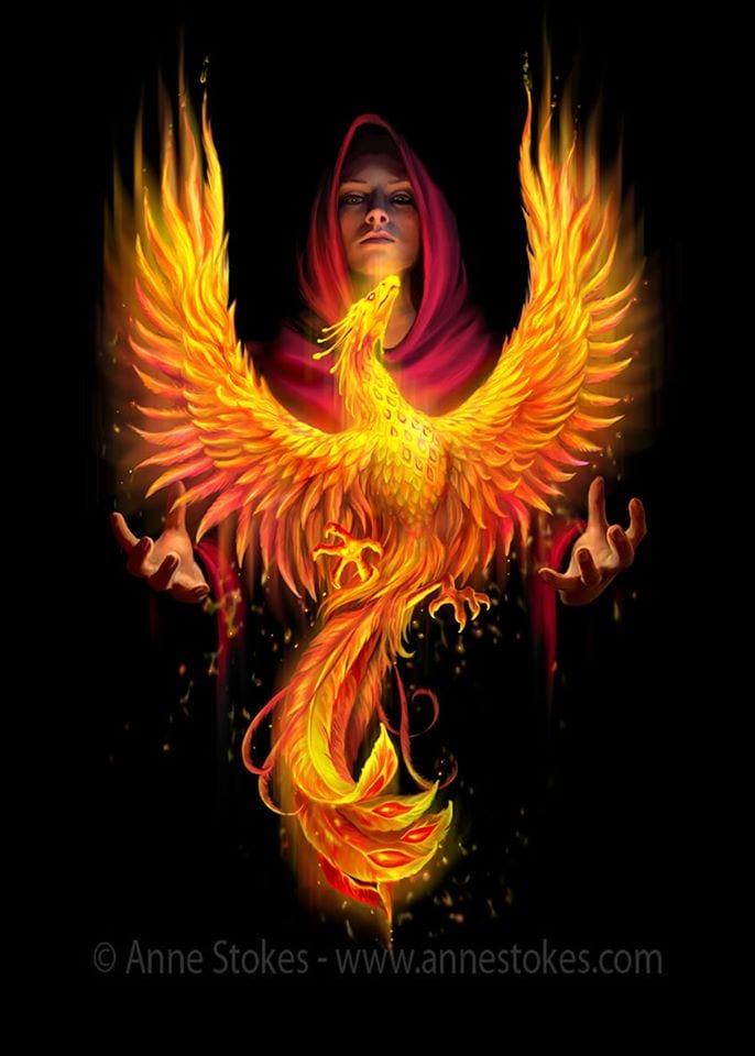 Phoenix Rising 3D Print (Anne Stokes)