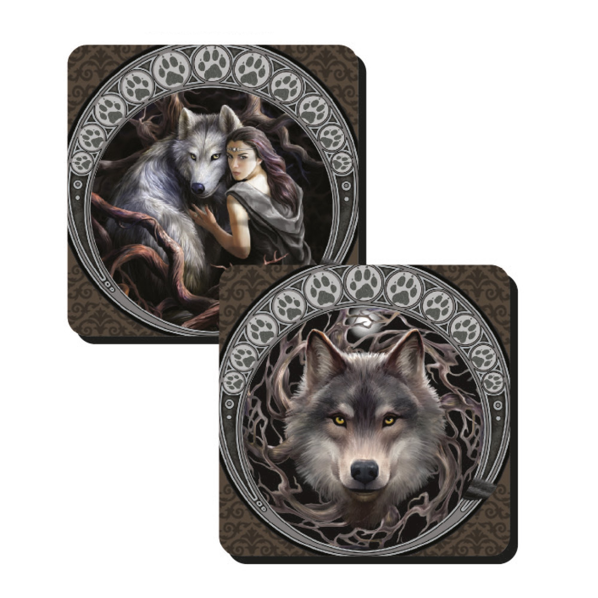 Anne Stokes Wolf Coasters