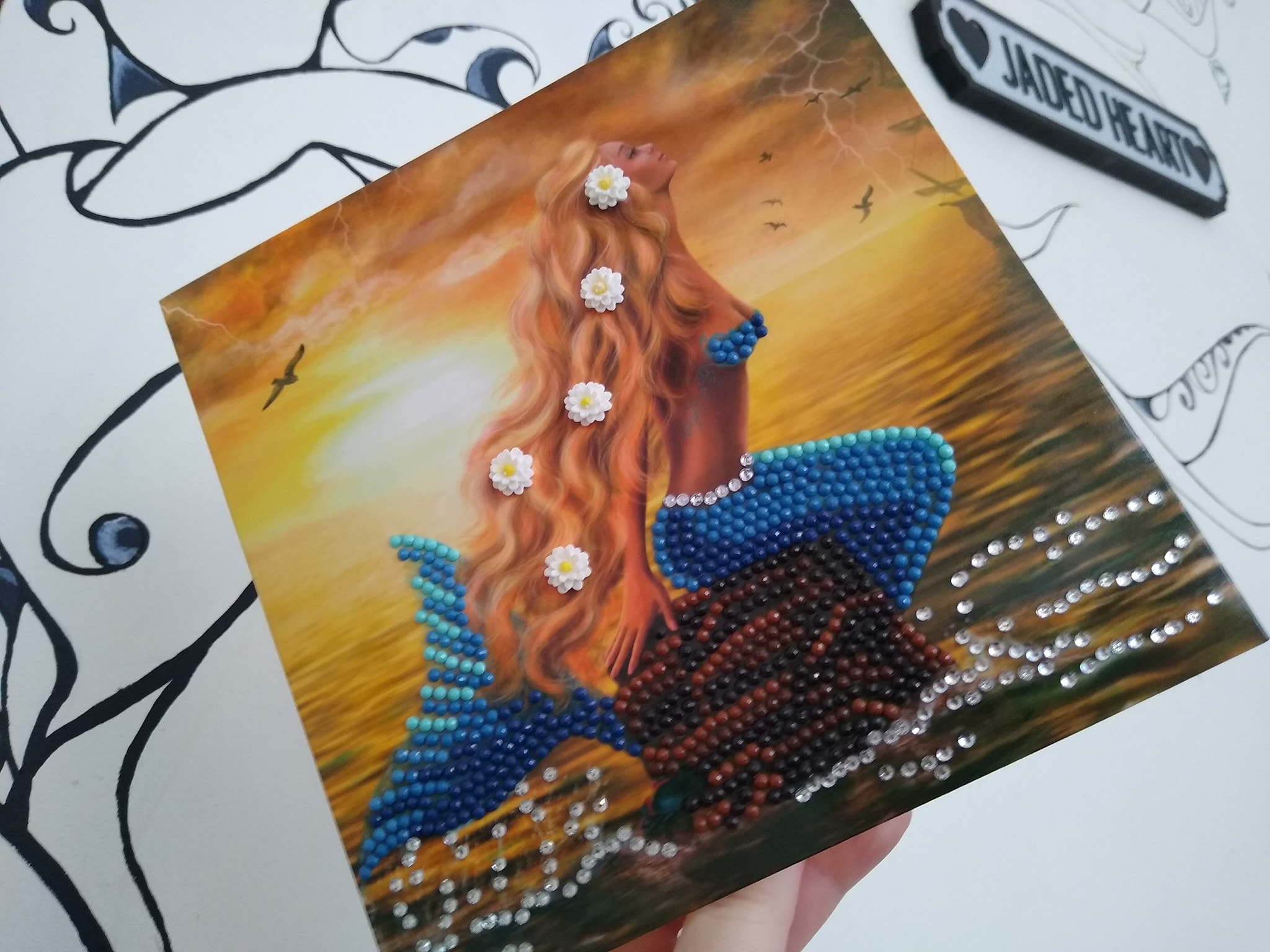 Mermaid Dreams Crystal Art Card