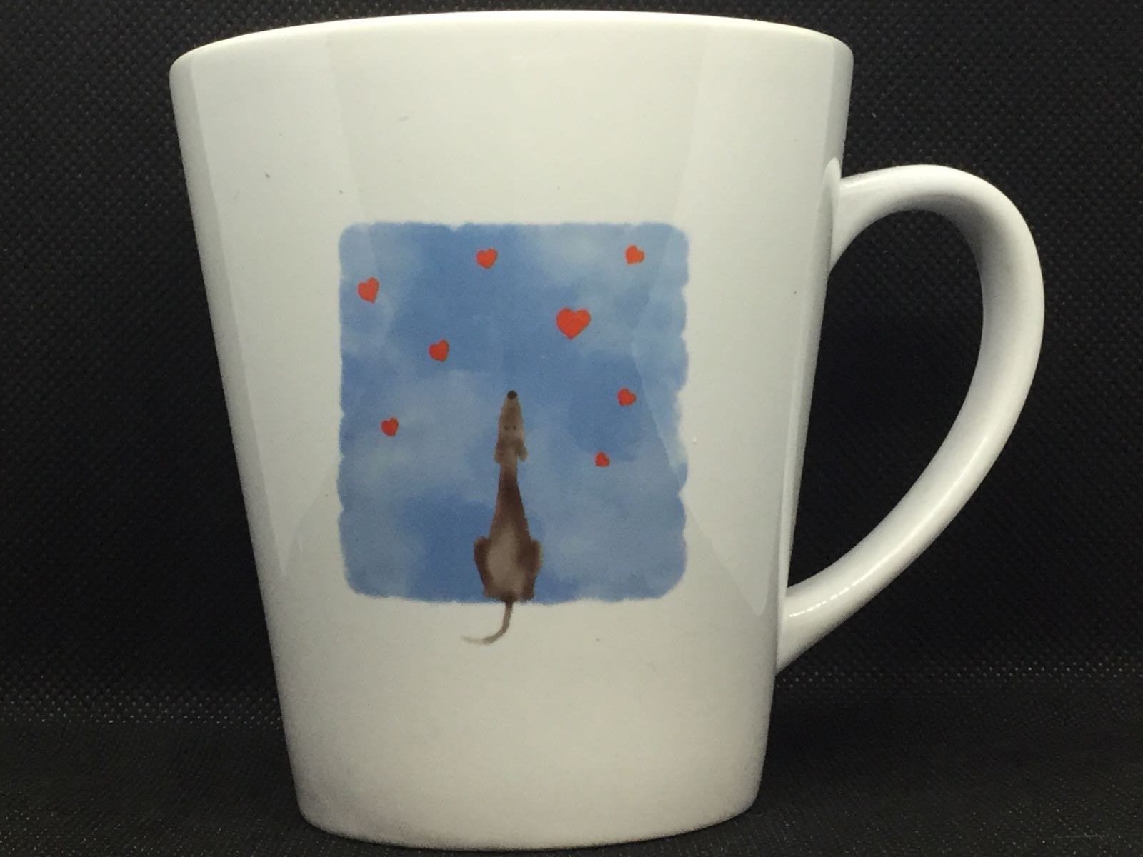 (A) Greyhound & Hearts Mug