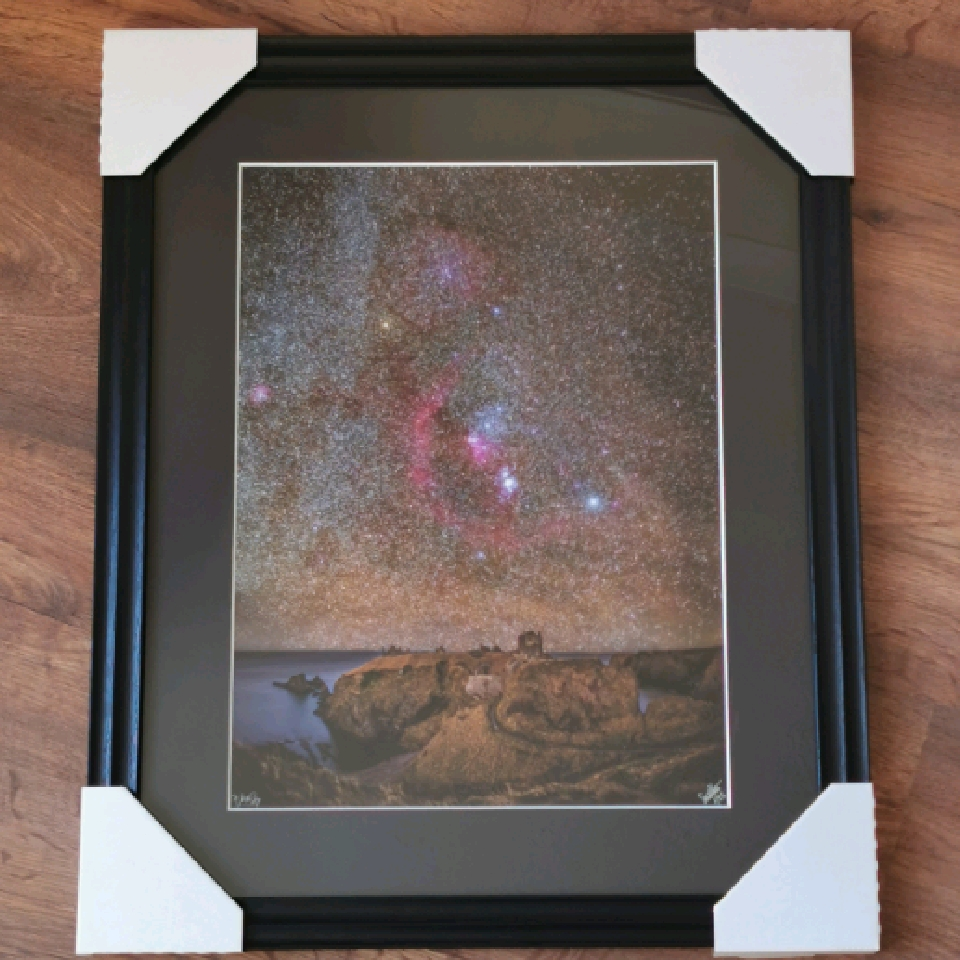 Orion at Dunnottar Castle, A3, 1/25, black