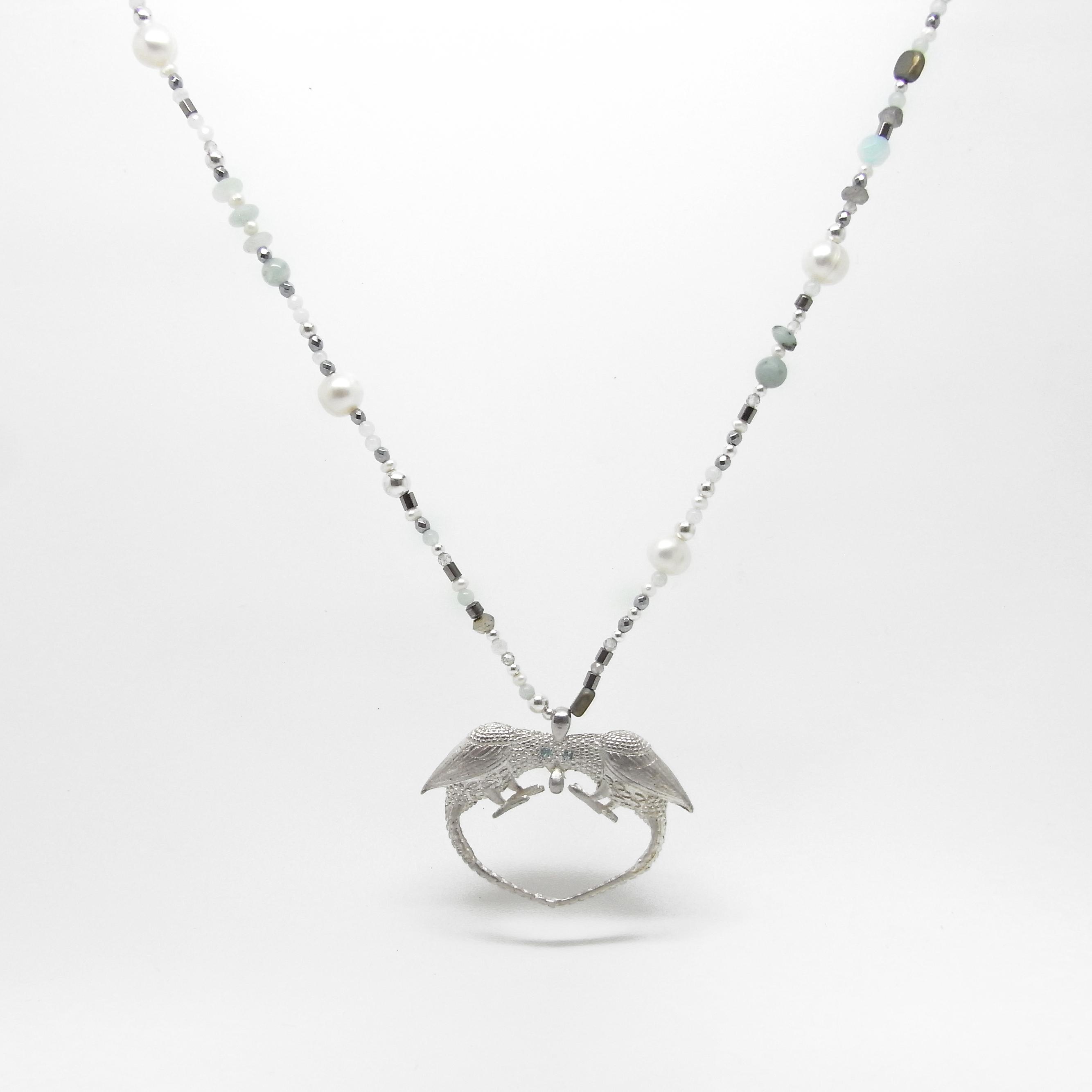 Love Bird Large Mix Bead Necklace