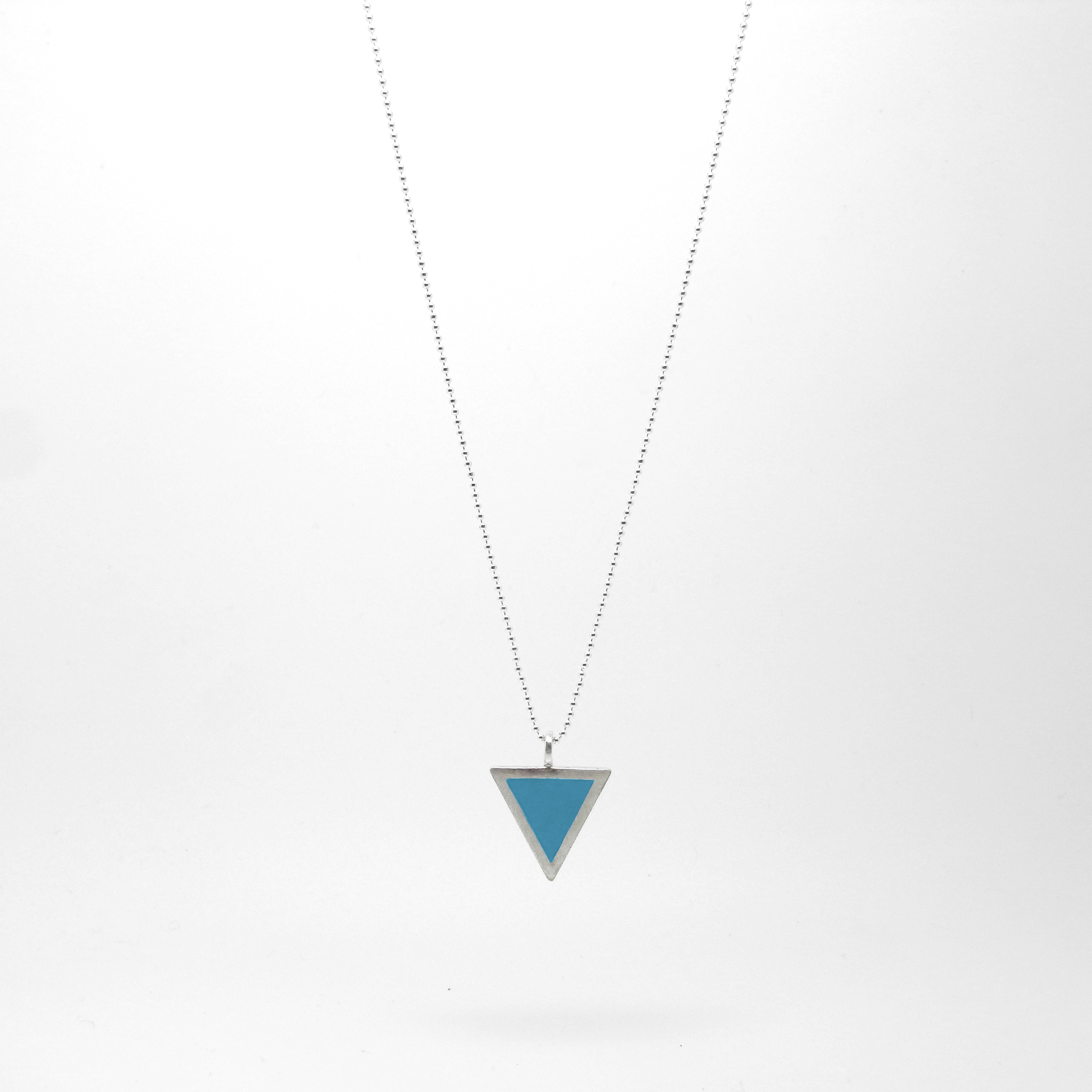 Triangle Necklace Blue
