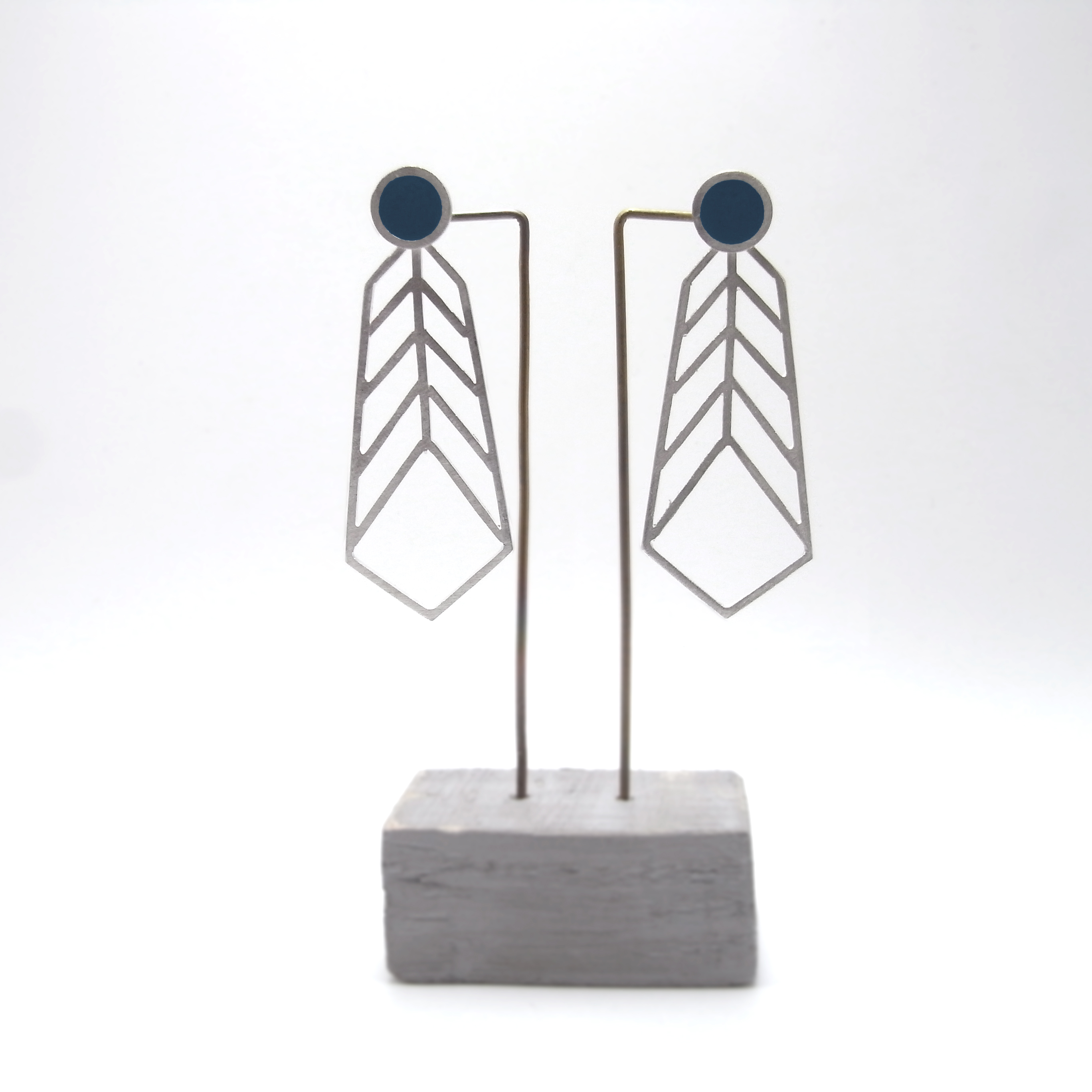 Stud and Chevron Earrings (made to order)