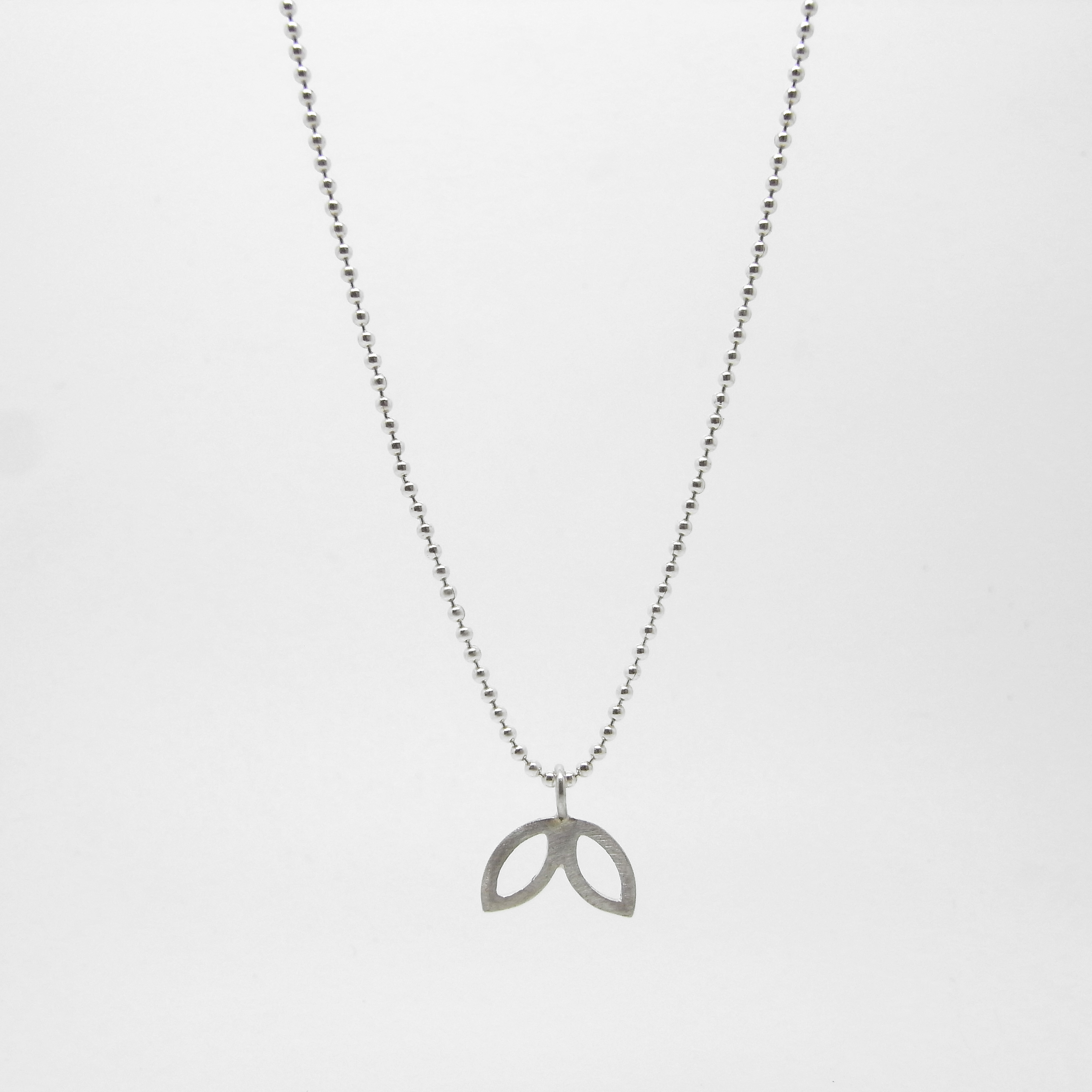 SALE - Silver Petal Necklace