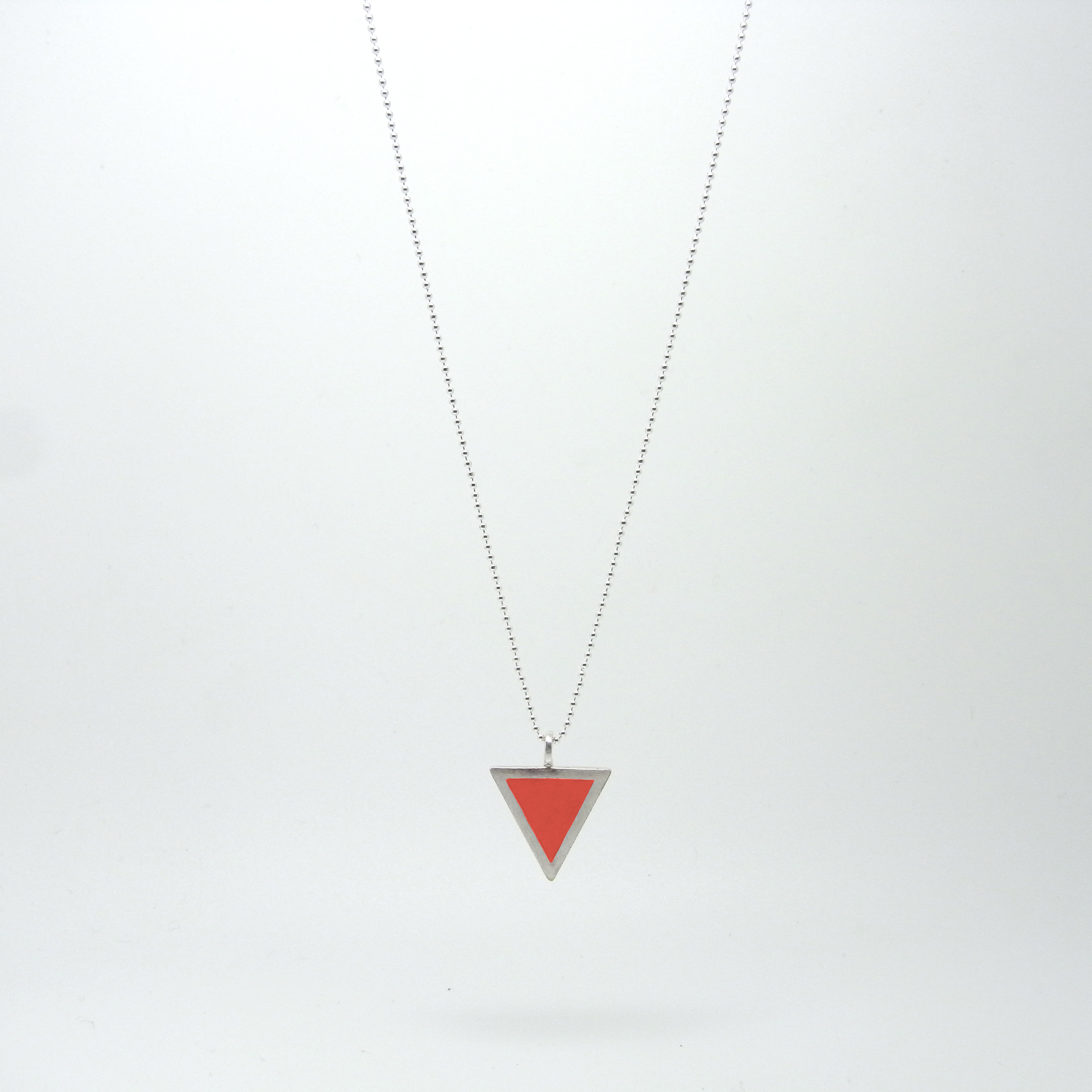 Triangle Necklace Red