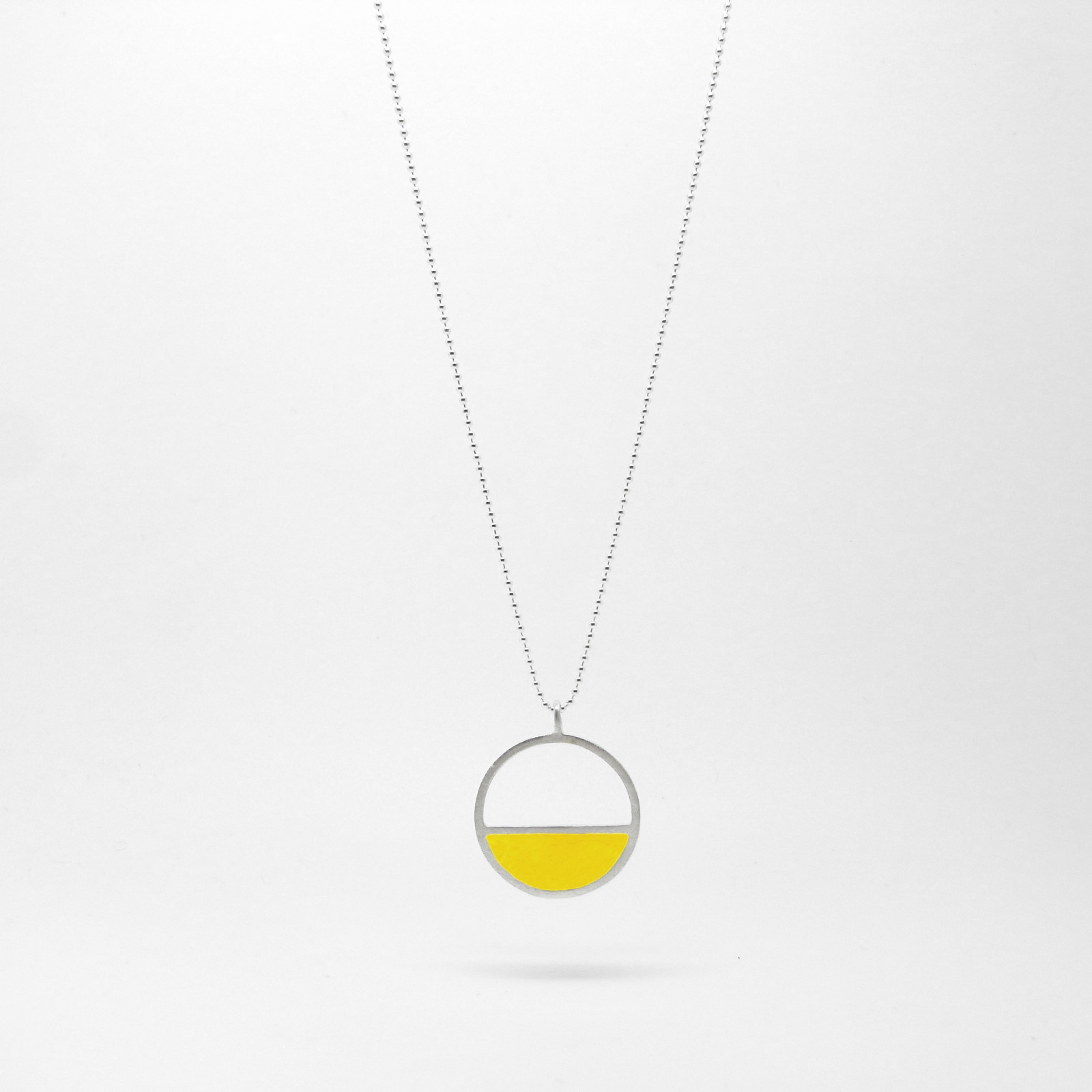 Semi Circle Necklace Yellow