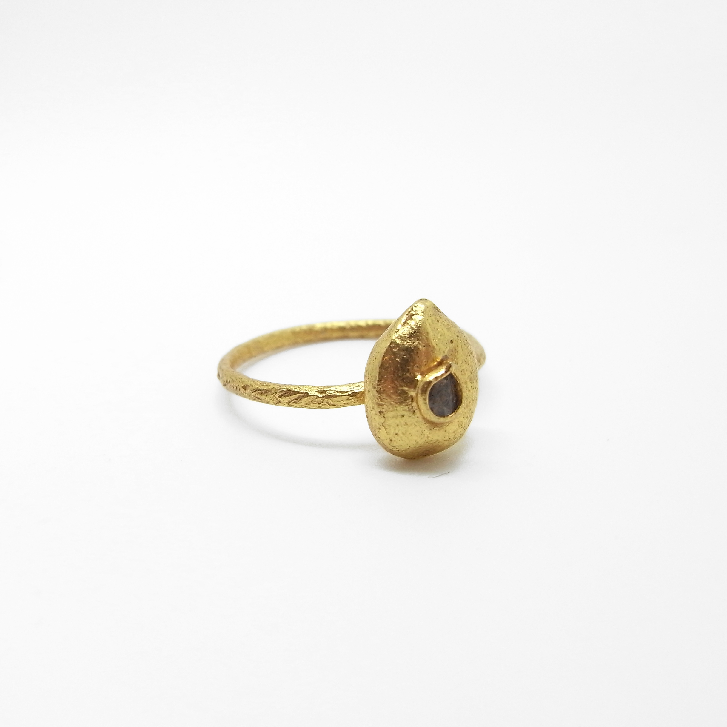 Watermelon Seed Ring with Diamond