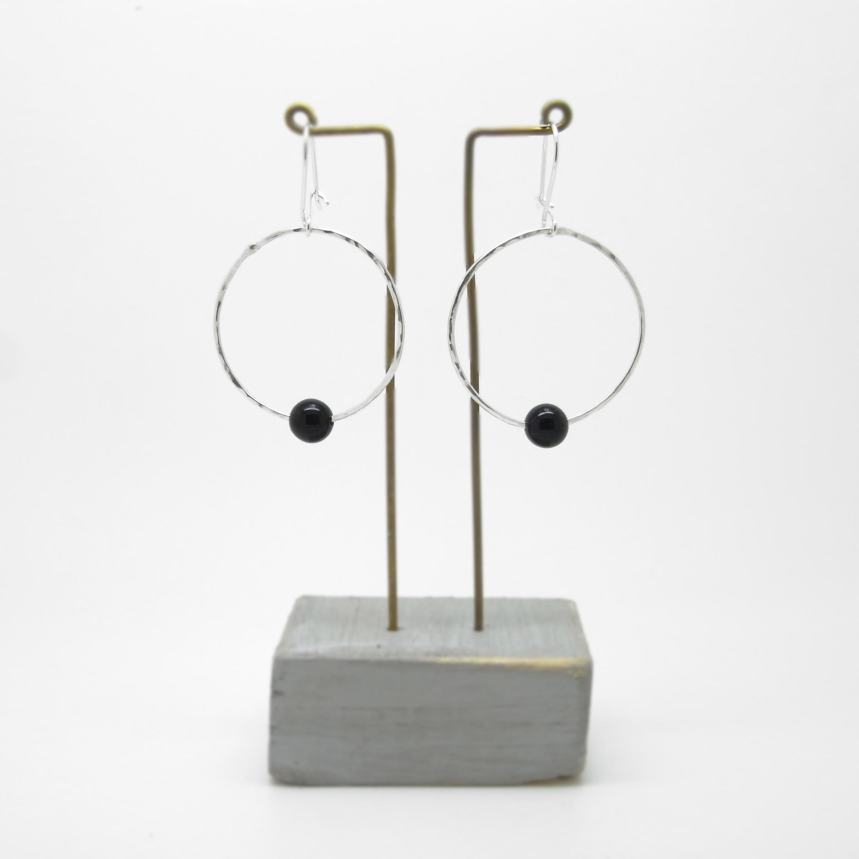 OFFER - Onyx Single Bead Earrings