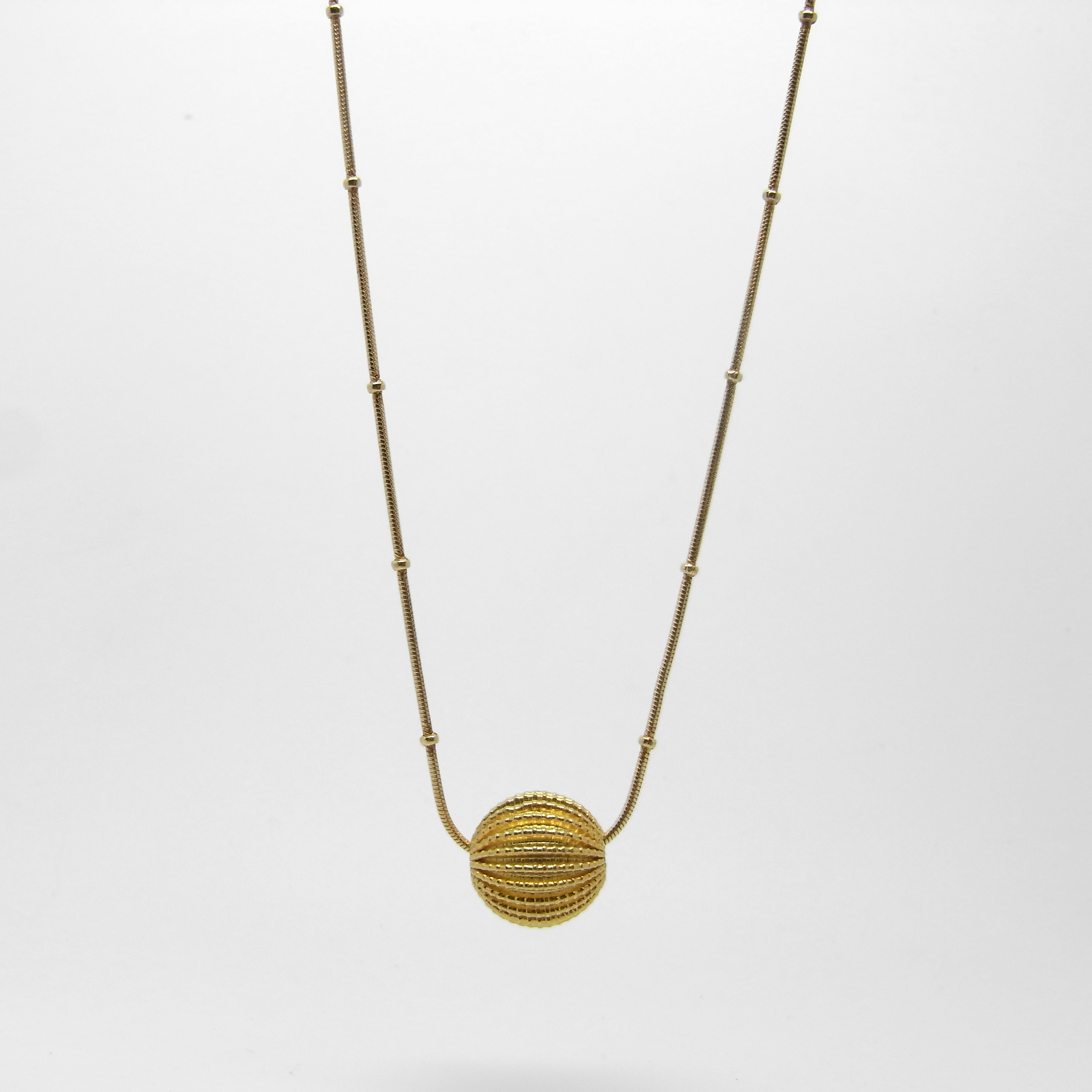 Sea Charm Necklace - Gold Plate