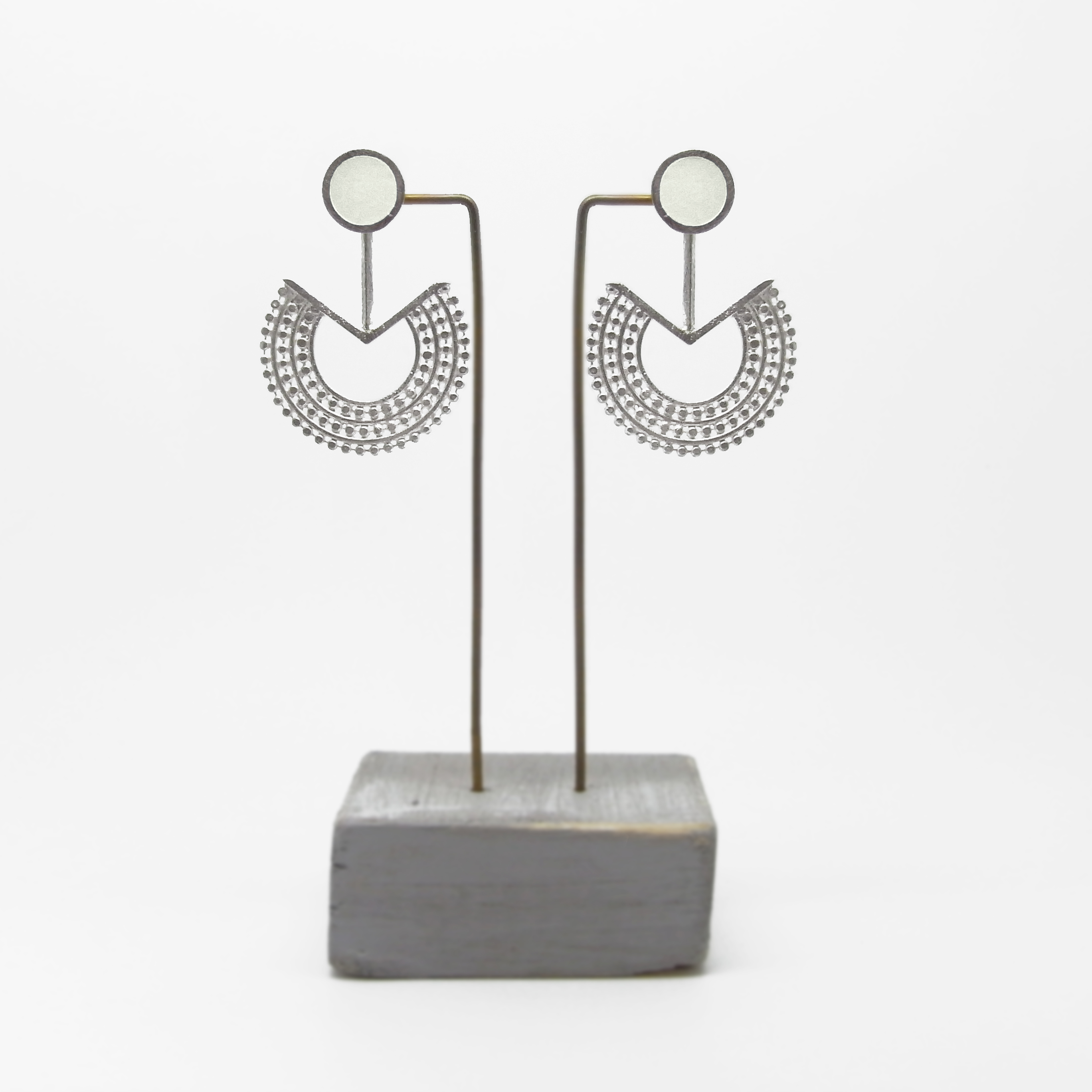 Beaded Fan with Stud Earrings (made to order)
