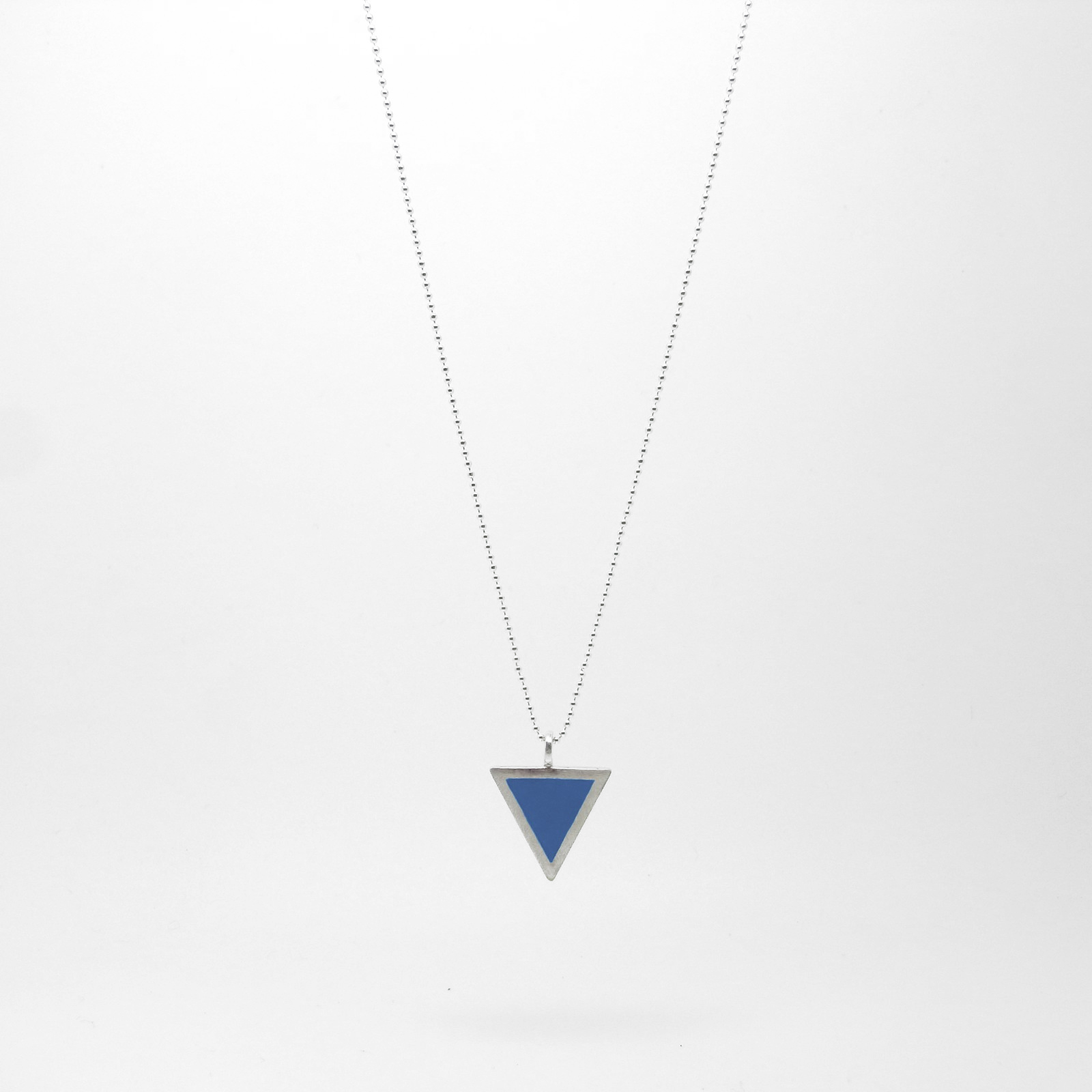Triangle Necklace Medium Blue